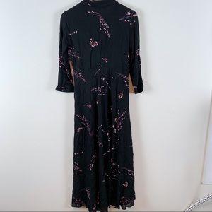 Zara Dresses - Zara Floral Print Maxi Shirt Dress